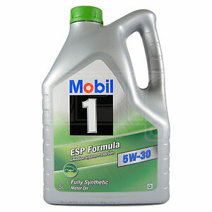 mobil 1 esp formula 5w 30 fully synthetic engine oil 5w30. Black Bedroom Furniture Sets. Home Design Ideas