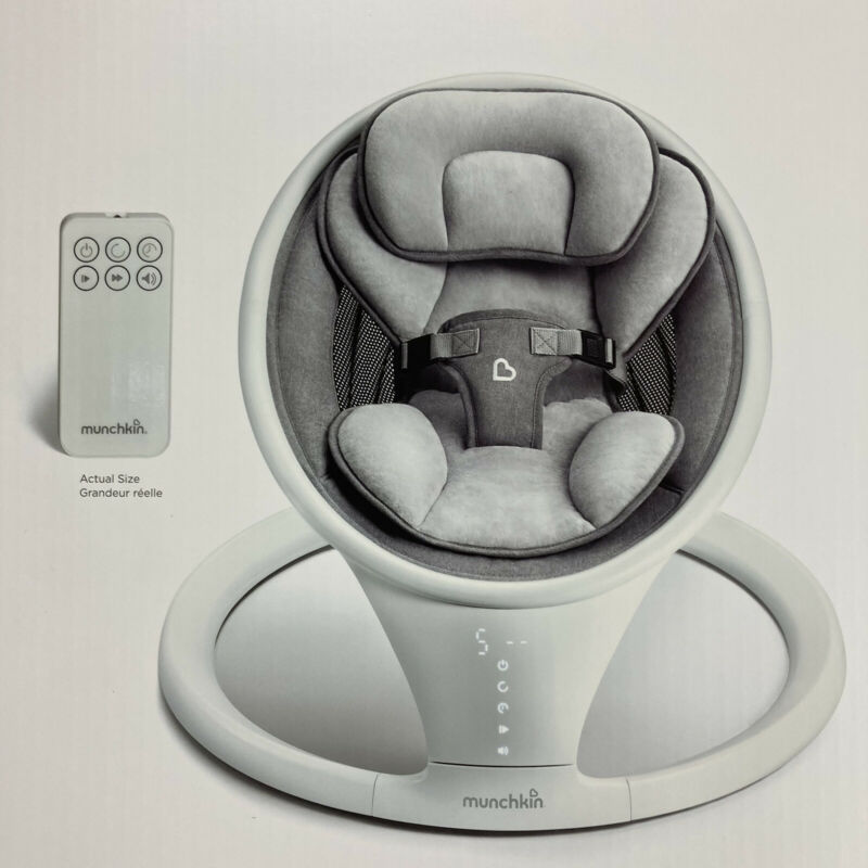 Munchkin Bluetooth Enabled Lightweight Baby Swing with Natural Sway in 5 Speeds