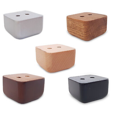 Sofa-fuß (4 x Möbelfüße Holz Sofafuß  Couchfüße  Buche/Eiche Holzbeine Eckig Gerade)