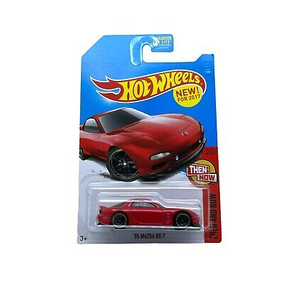 Hot Wheels 1995 '95 Mazda RX-7 Sports Car Red Diecast 1/64 Then & Now 3/10 2015