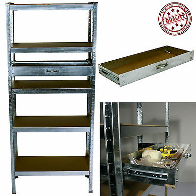 Metal Shelving Racking Storage Unit Tools Drawer Garage Warehouse Workbench New