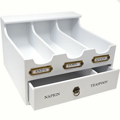CUTLERY HOLDER TRAY ORGANISER BOX 5 COMPARTMENTS DRAWER KITCHEN STORAGE UTENSILS