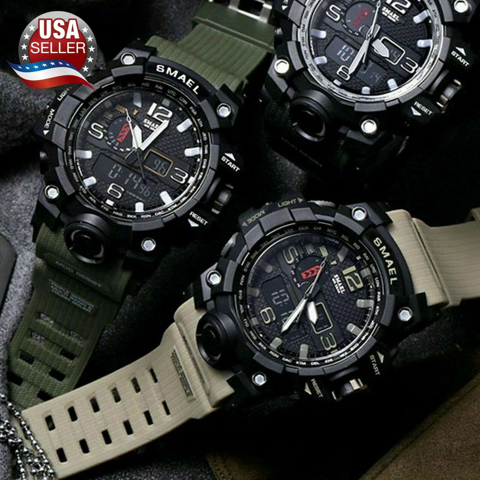 men s military sport wrist watch quartz
