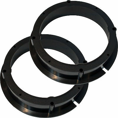 2 Heavy Duty ABS Plastic Speaker Adapter Plates 1995-Up Vehicles VW 6.5