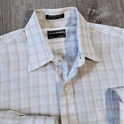 1970s Men's Shirt Styles – Vintage 70s Shirts for Guys Vintage 70s Pierre Cardin Rockabilly Check Shirt 1970s Union USA Mens 15.5 M  $42.26 AT vintagedancer.com