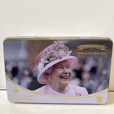 NEW ENGLISH TEAS - Queen Elizabeth II Tea Tin With 72 Teabag Selection Exp:03/24