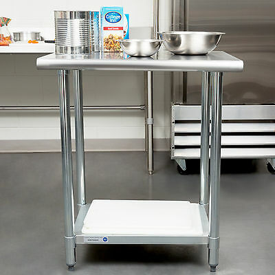 New 24 X 30 Stainless Steel Work Prep Table Adjustable Undershelf Restaurant
