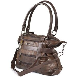 LADIES LARGE LEATHER TOTE BAG SHOULDER HANDBAG with strap Brown Black Tan Red