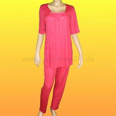 Modal Schlafen Kurz (Damen Pyjama Schlafanzug - kurz Micromodal (nur Gr. 44) von Graziella in rot)