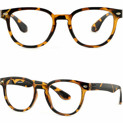 Lightweight Mens Womens Plastic Frame Glasses Metallic Pieces Dots Tortoiseshell