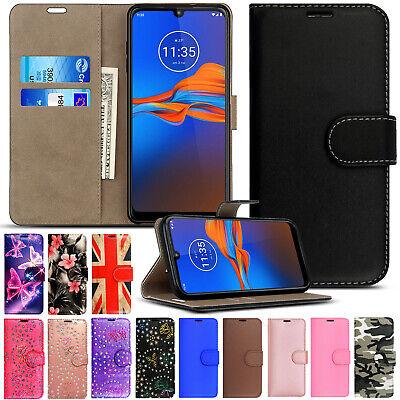 Case for Motorola Moto G5 G6 E5 Play G7 E6 G8 Plus Leather Flip Wallet Cover