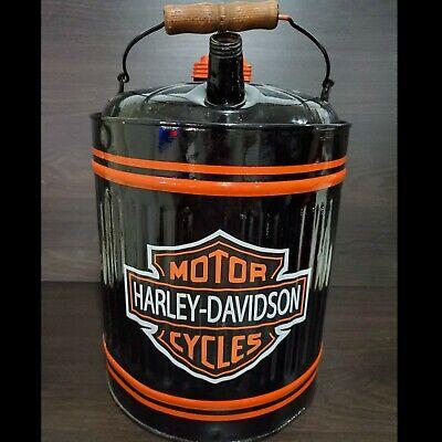 VINTAGE HARLEY DAVIDSON RESTORED 5 GALLON METAL OIL/GAS CAN
