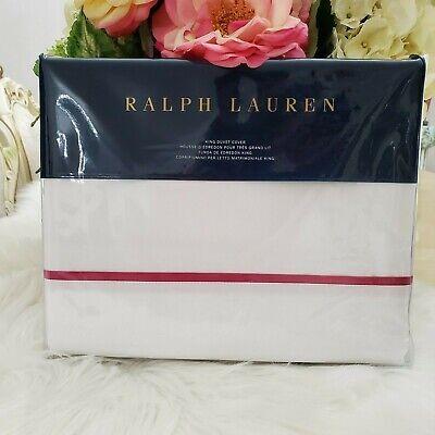 Ralph Lauren Palmer Percale Collection Cotton King Duvet Covet Monaco Pink (Lauren Pink Collection)