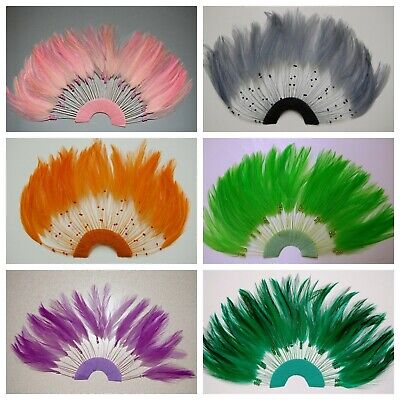 HALF PINWHEELS FEATHERS - Top Quality HACKLE; MANY COLORS (Halloween/Costume)](Top Quality Halloween Costumes)