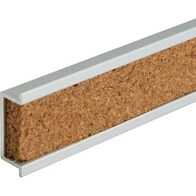 Lorell Cork Strip Bulletin Bar - 36 Width - Cork Surface - Self-healing