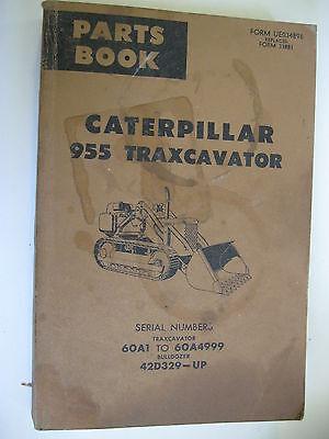 1976 Caterpillar 955 Traxcavator Parts Book Manual