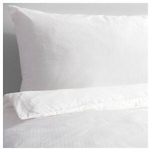 IKEA BERGLILJA White King Size Duvet Cover & 4x Pillowcases