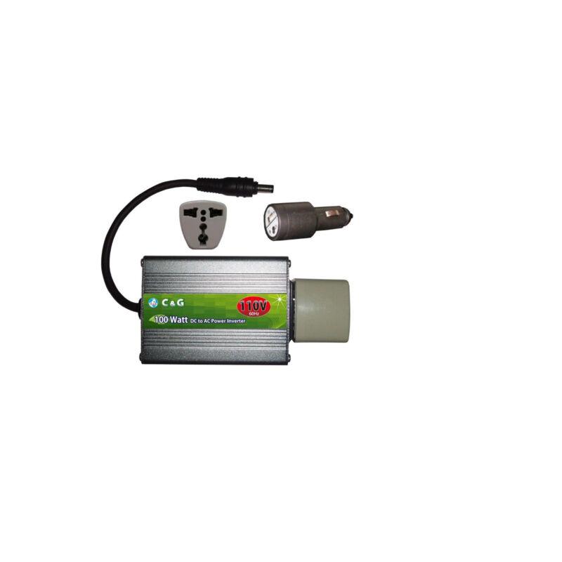 12V DC to 110V AC 100W Inverter.