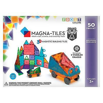 Magna-Tiles 3D Magnetic Building Tiles - 50 Piece
