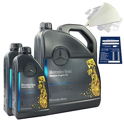 Original Mercedes-Benz Motoröl 7 Liter 5W40 229.5 inkl. Trichter + Anhänger 7L