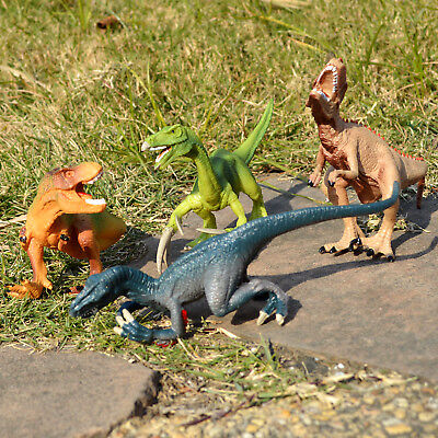 4Pcs Assorted Dinosaurs Toy Eco Plastic Action Figure Model Kids Children Gift