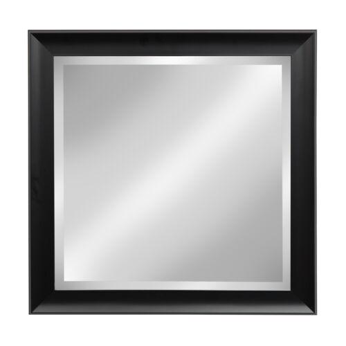 Scoop Black Square Framed Beveled Wall Mirror by DesignOvati