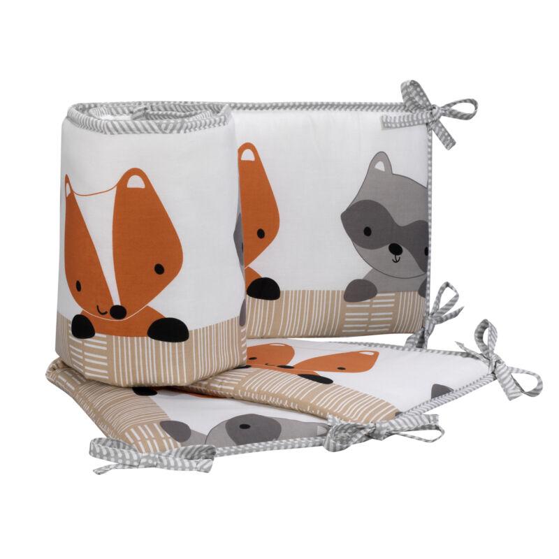 Bedtime Originals Acorn 4-Piece Crib Bumper - Gray, Animals, Woodland, Forest