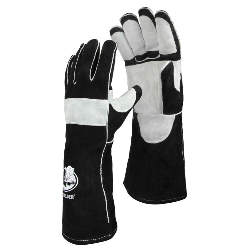 """Leather Forge MIG Welding Gloves 16"""", with Kevlar Stitching, Heat/Fire Resistant"""