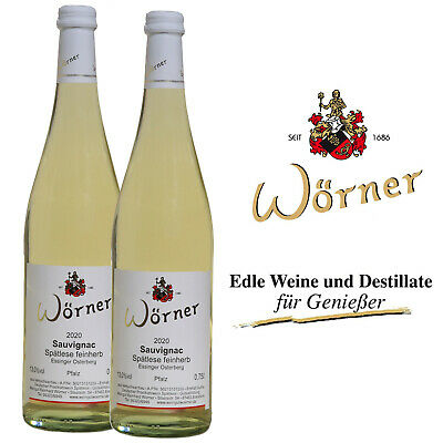 (12,00€/l) Sauvignac Spätlese feinherb 2 Fl. WEINGUT WÖRNER Weißwein Neuzüchtung