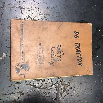 Caterpillar Cat D6 Bulldozer Tractor Parts Manual Book Sn 2h1