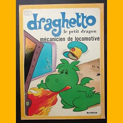 DRAGHETTO LE PETIT DRAGON Mécanicien de locomotive 1979