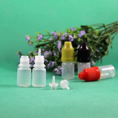 3 Ml Plastic Dropper Bottle Crc Child Proof Caps With Long Thin Tips 100 Pcslot