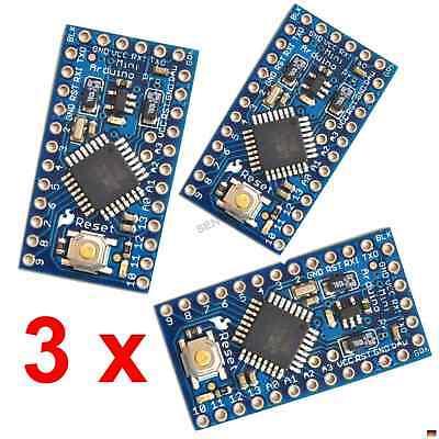 3 x Arduino Pro Mini kompatibel Atmega328 5V 16Mhz - 3er Bundle Set Kit Kompatibel Bundle
