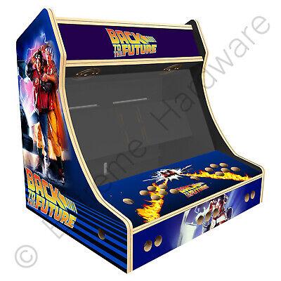 "BitCade 2 Player 24"" Bartop Arcade Machine Cabinet w/ Back to the Future Artwork"
