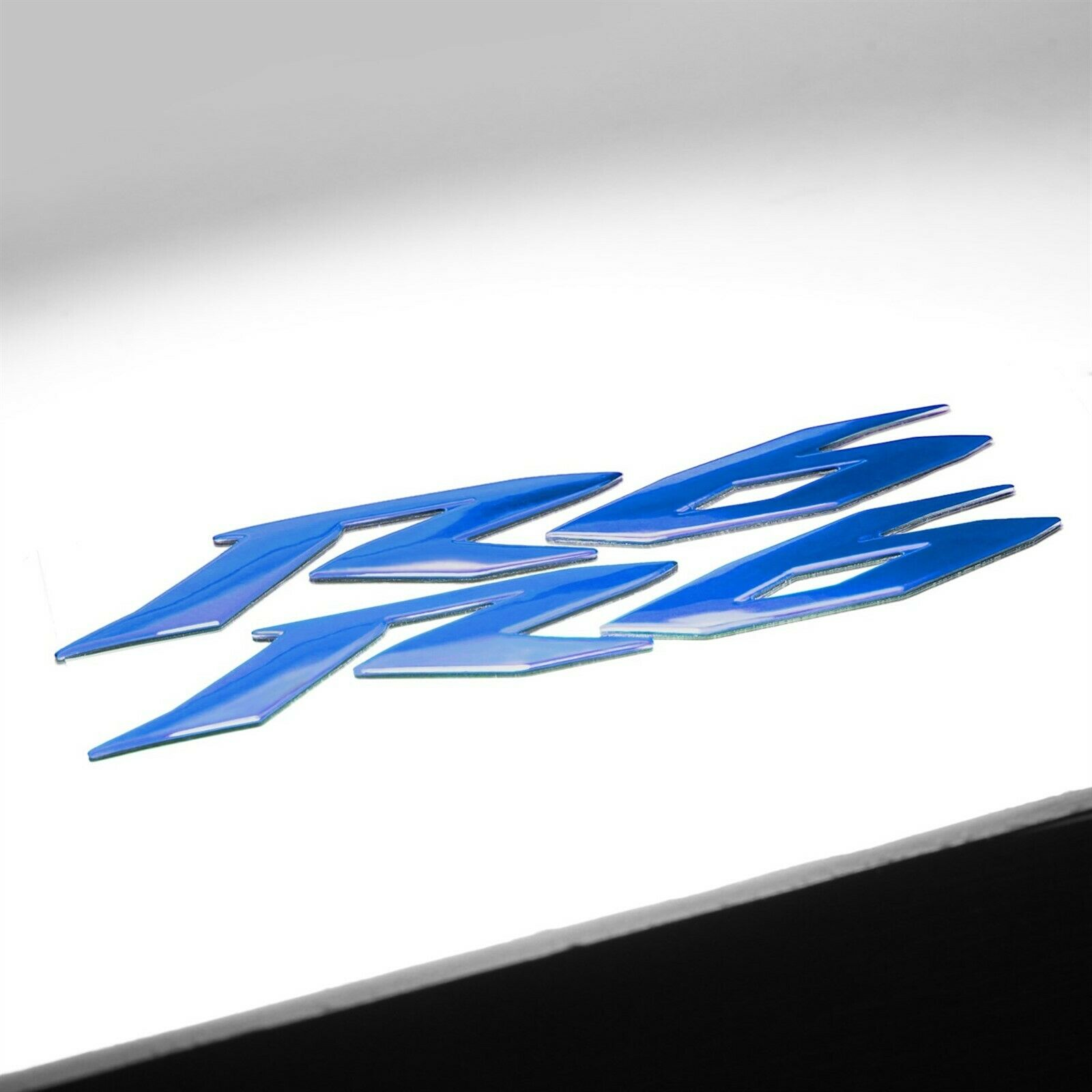 "5.75/"" Chrome 3D Logo/&Letter Decal+6/"" Blue Fairing Emblem Sticker YZF-R6//R6S//600"