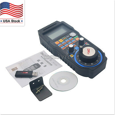 6axis Cnc Mach3 Wireless Electronic Handwheel Manual Controller Handle Mpg Us