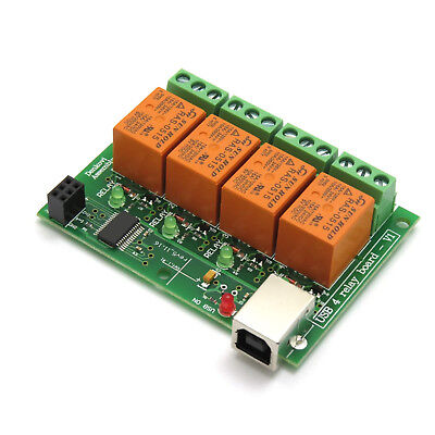 Usb Four4 Relay Moduleboard For Home Automation