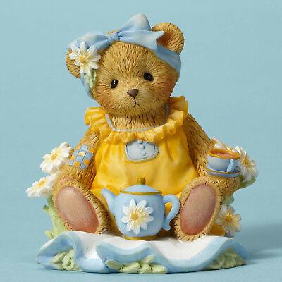 Enesco Cherished Teddies MOF Bear Having Tea NIB  Item #  CT1603 Enesco Cherished Teddies Bear