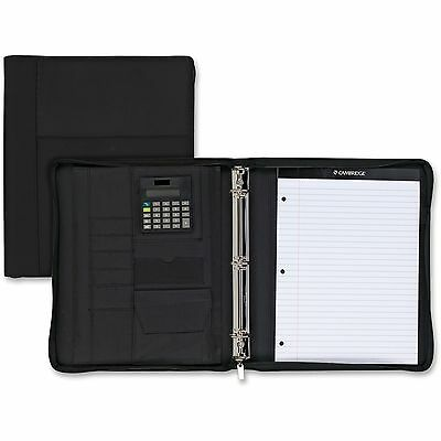 Mead Zipper Binder Wcalculator Cambridge 9x13 1 Black 29516