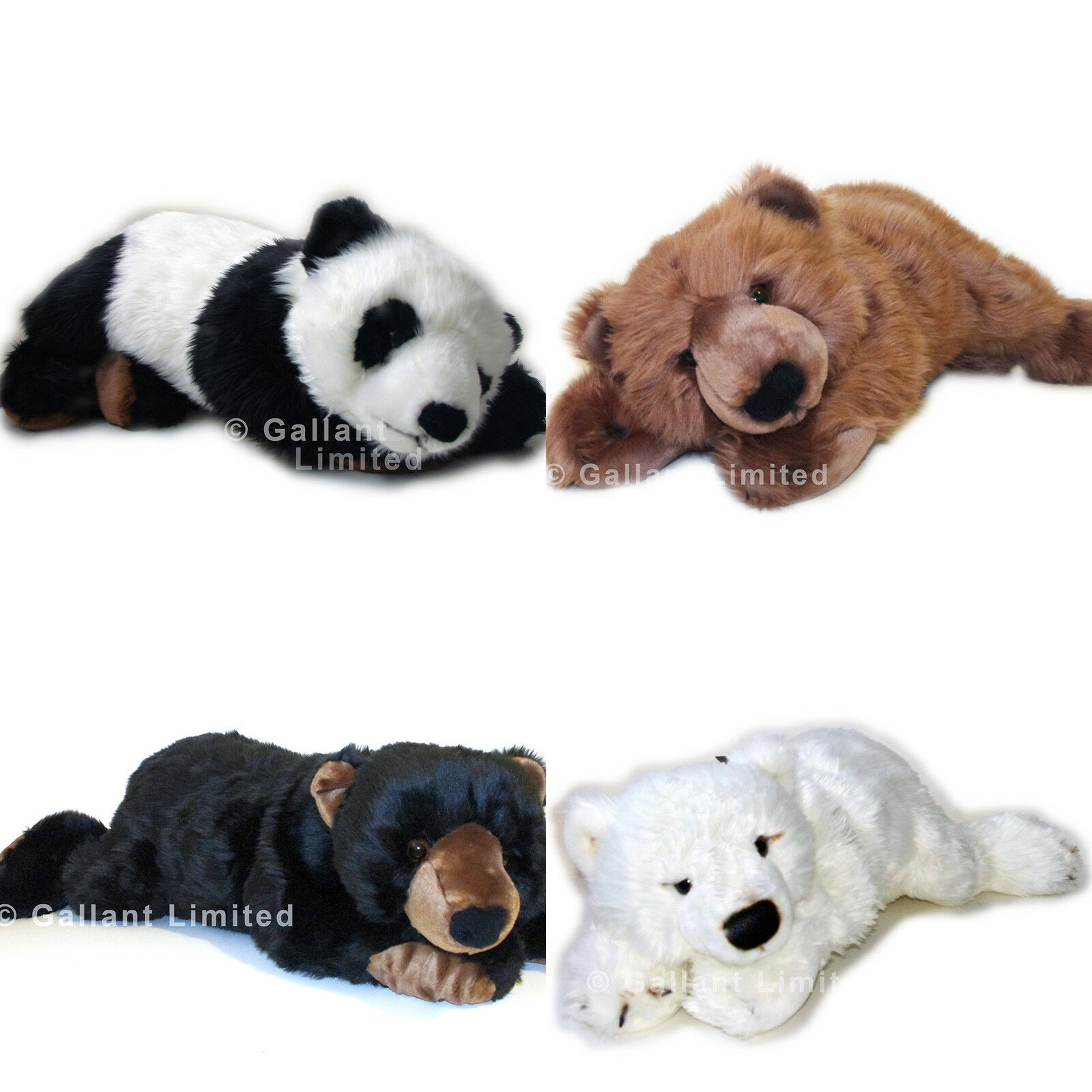 LARGE 71CM STUFFED SOFT BIG PANDA WHITE BLACK BROWN OR POLAR GIANT TEDDY BEAR