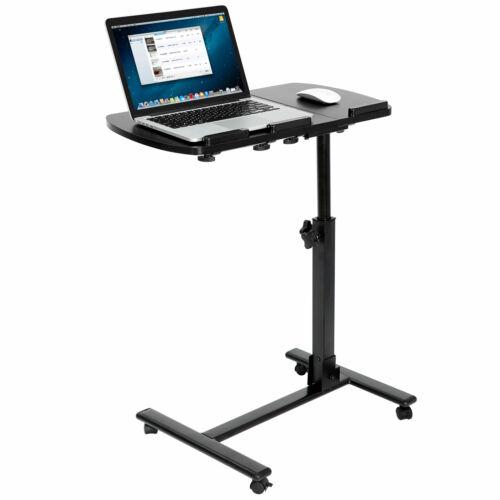 Rolling Height Angle Adjustable Laptop Sofa Desk Overbed Foo