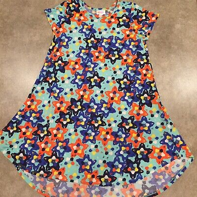 LuLaRoe Sz 12 Floral Print Cap Sleeve High Low Hem Dress High Cap Print