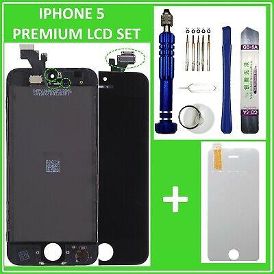 Iphone 5 Touchscreen (Display LCD für iPhone 5 mit RETINA Scheibe Bildschirm Touchscreen SCHWARZ BLACK)