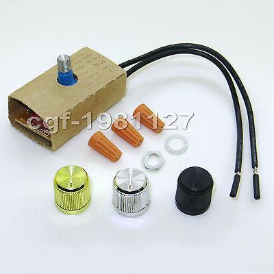 Full Range Rotary Dimmer Switch for Lamp LED & Incandescent 120 V 300 W (Incandescent Rotary Dimmer)
