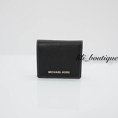- NWT Michael Kors Women Jet Set Travel Carryall Card Case Bifold Wallet Black 128