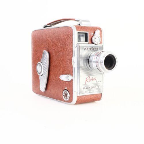 "* Keystone Riviera K-40 Magazine ""8"" 8mm Cine Camera"