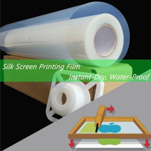 """24""""x100ft,Silk Screen Printing Waterproof  Instant-Dry Inkjet Transparency Film"""