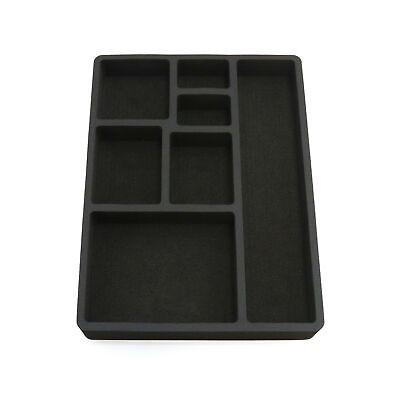 Drawer Organizer For Desk Black Insert Home Or Office 7 Slot 15.9 X 11.9