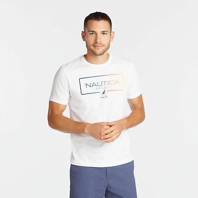 Nautica Mens Nautica Sailing Gradient Graphic Tee