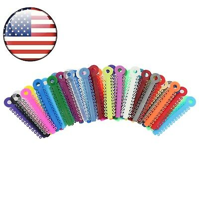 Usa 1040 Pcs Dental Orthodontic Ligature Elastic Ties Multi Color Usps Shipment